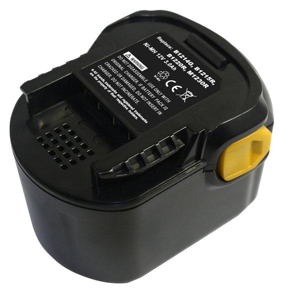 pb Batterie d'outillage 12V 2,0Ah Ni-Cd / Ni-Mh AEG B1214G / B1215R