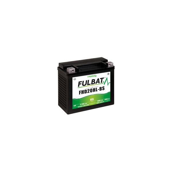 Fulbat Batterie moto YHD20HL-BS étanche au Gel 12V / 20Ah spécial Harley
