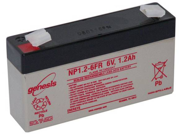 Enersys BATTERIE PLOMB ETANCHE ENERSYS NP1.2-6 - 6V 1.2Ah