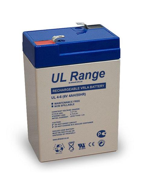 ULTRACELL BATTERIE PLOMB ETANCHE ULTRACELL NP4-6 / UL4-6 - 6V 4Ah