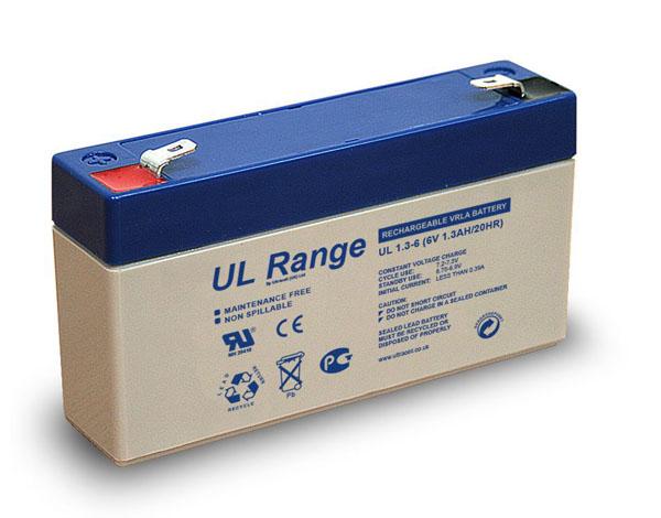 ULTRACELL BATTERIE PLOMB ETANCHE ULTRACELL NP1.2-6 / UL1.3-6 - 6V 1.3Ah