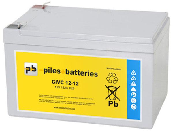 Dyno Batterie plomb étanche GiVC12-12 12V 12Ah pour chariot de golf