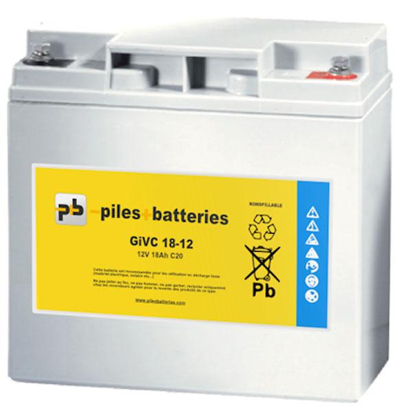 Dyno Batterie plomb étanche GiVC12-20 12V 20Ah pour chariot de golf