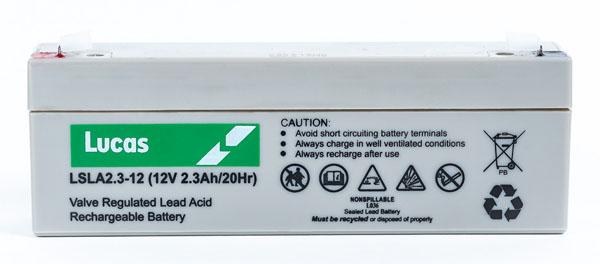 Lucas Batterie Plomb étanche Stationnaire Lucas VRLA AGM  LSLA2.3-12 12V 2.3Ah