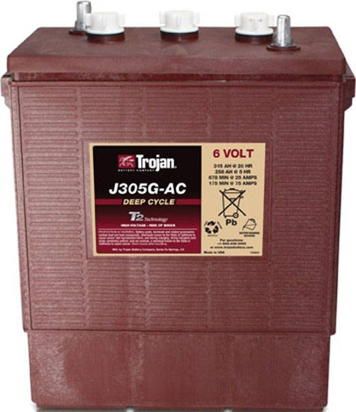 TROJAN Batterie  TROJAN PLAQUES EPAISSES J305G-AC 902 6V 315AH  AMPS (EN)