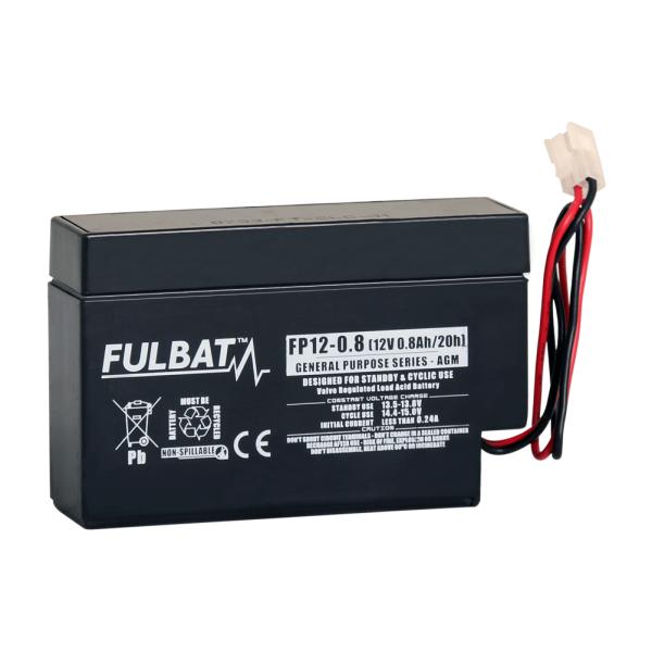 fulbat Batterie FULBAT  AGM  plomb étanche FP12-0.8 (JST) 12 volts 0,8 Amps