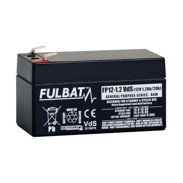 fulbat Batterie FULBAT  AGM  plomb étancheFP12-1.2VDS (T1) 12 volts 1,2 Amps