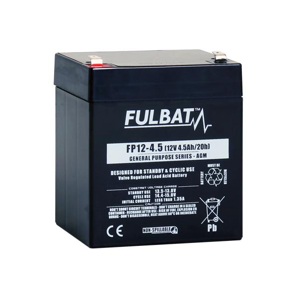 fulbat Batterie FULBAT  AGM  plomb étanche FP12-4.5 (T1) 12 volts 4,5 Amps