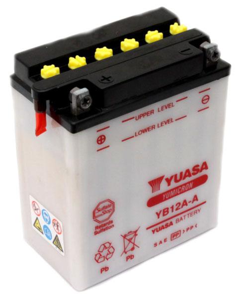 Yuasa Batterie tondeuse Yuasa YB12A-A 12v / 12Ah