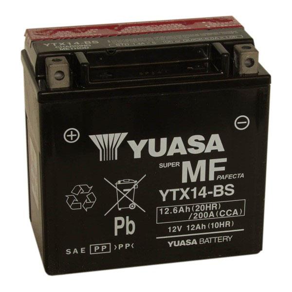 Yuasa Batterie tondeuse Yuasa YTX14-BS étanche 12V / 12Ah