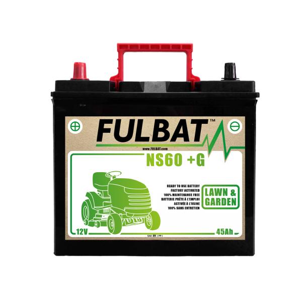 fulbat Batterie Fulbat NS60  (+G) CA/CA 12V 45 AH (+ / -) NS60G KUBOTA Bornes Japonnaises (sans entretien)