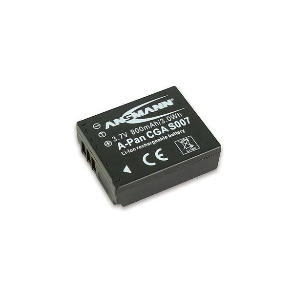 Ansmann Batterie de camescope type Panasonic CGA-S007 / DMW-BCD10 Li-ion 3.7V 800mAh