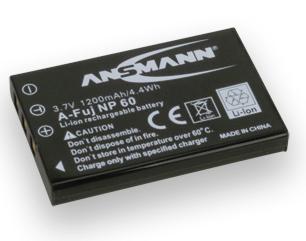 Ansmann Batterie photo numerique type Fuji NP-60 Li-ion 3.7V 1200mAh