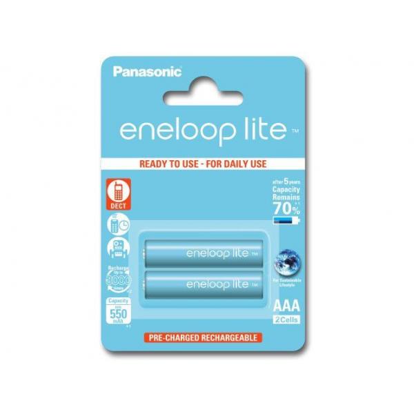Panasonic 2 batteries de téléphone PANASONIC Eneloop Lite AAA NI-MH 1,2V 600mAh