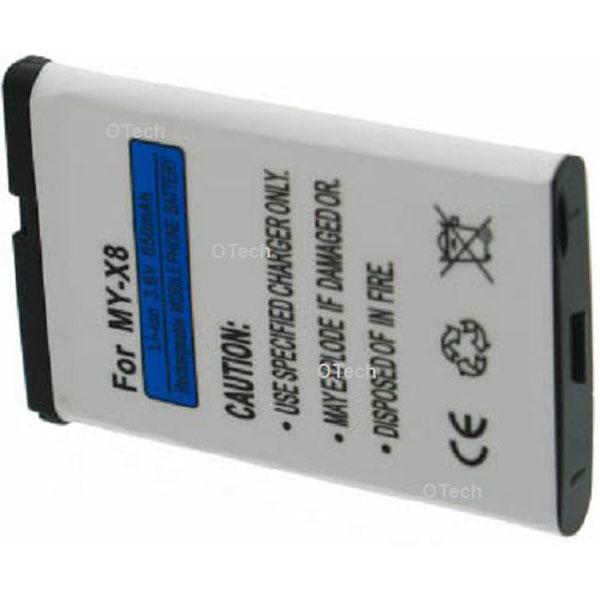 Otech Batterie de téléphone portable pour SAGEM MY X8 Li-ion 600 / 700mAh