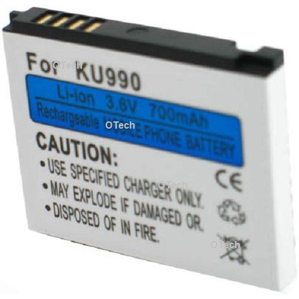 Otech Batterie de téléphone portable pour LG 8000 / U8110 3.6V Li-Ion 700 / 800mAh