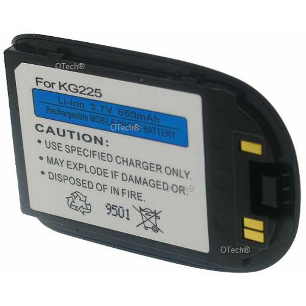 Otech Batterie de téléphone portable pour KG225 3.7V 650mAh