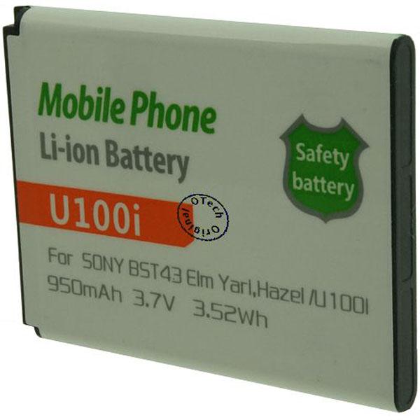 Otech Batterie de téléphone portable pour SONY U100i / BST43 3.7V Li-Ion 950mAh