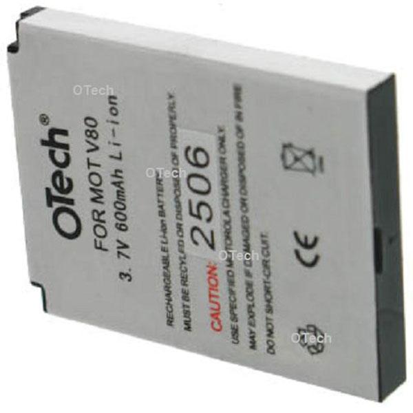 Otech Batterie de téléphone portable pour MOTOROLA V80 Li-ion 500 / 600mAh
