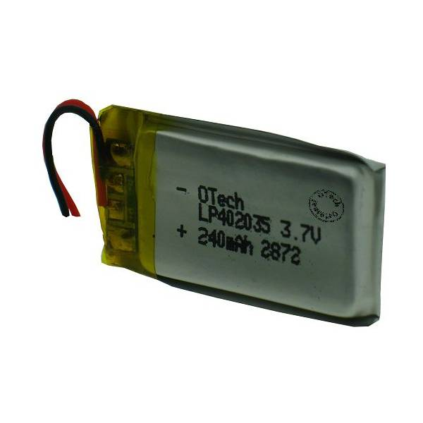 Otech Batterie OTech 1ICP5/21/31 (mm: 4.12x20.77x30.70) sortie fil 3.7V Li-Po 240mAh