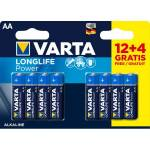 varta  Varta 12+ 4 (gratuites) piles LR06/ LR6 AA VARTA LONG LIFE POWER... par LeGuide.com Publicité