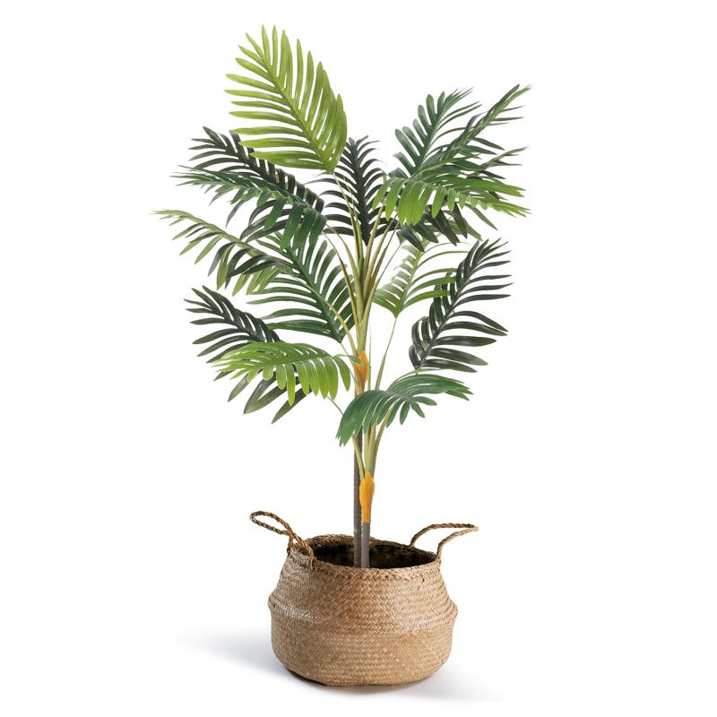 IDMarket Palmier artificiel hauteur 115 cm plante avec pot