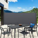 IDMarket  Paravent extérieur rétractable 400 x 200 cm gris anthracite... par LeGuide.com Publicité