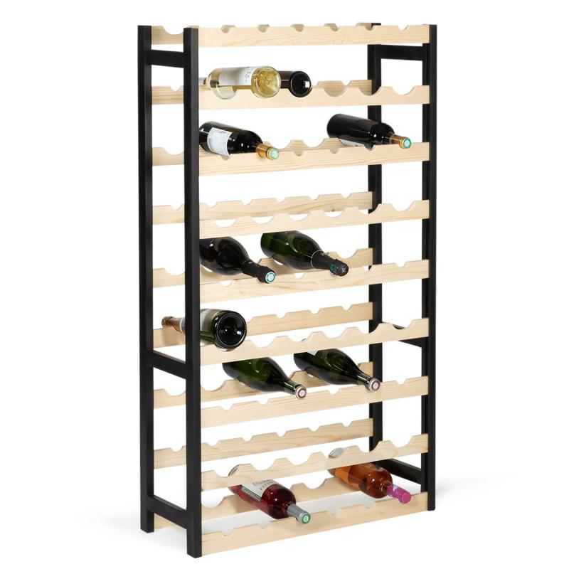 IDMarket Etagère à vin 54 bouteilles bois