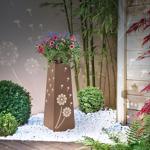 IDMarket  Colonne décorative éclairage LED intégré motifs fleurs jardinière... par LeGuide.com Publicité