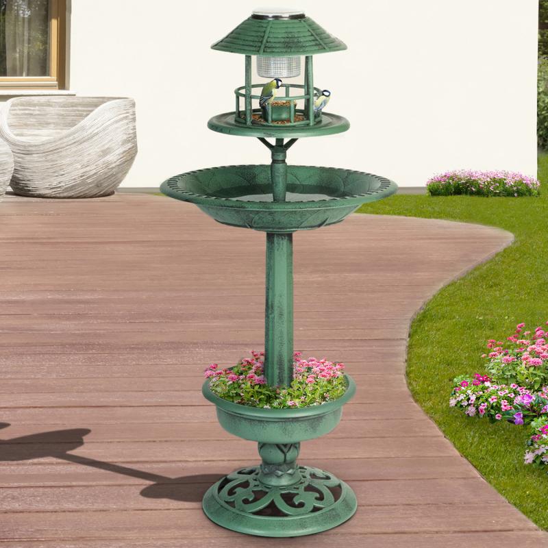 IDMarket Vasque lampe solaire bain d'oiseaux