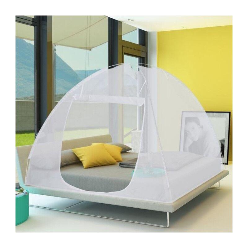ProBache Grande moustiquaire dôme pop-up 195x180 cm pour lit