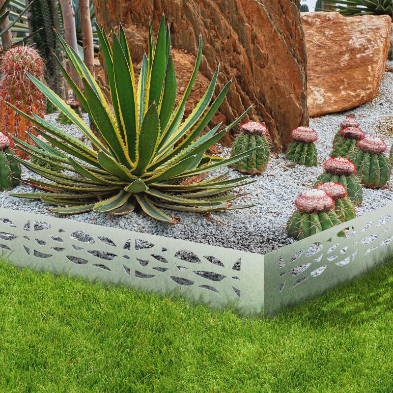 IDMarket Bordures de jardin flexibles en acier gris