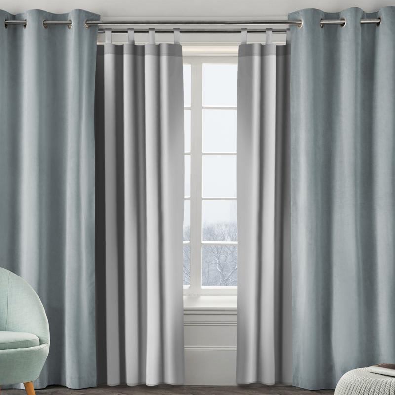 IDMarket Lot de 2 rideaux thermiques isolants pour fenêtre