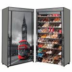 IDMarket  Étagère range chaussures 50 paires housse imprimé Londres... par LeGuide.com Publicité