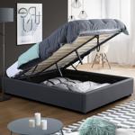 IDMarket  Lit coffre MIAMI PVC gris avec sommier 140 x 190 cm   Donnez... par LeGuide.com Publicité