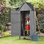 IDMarket  Armoire cabane de jardin en bois gris   Vos outils de bricolage... par LeGuide.com Publicité