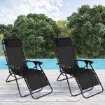 IDMarket  Lot de 2 fauteuils relax de jardin noirs chaises longues... par LeGuide.com Publicité