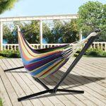 IDMarket  Hamac avec support métal et toile rayée multicolore   Laissez-vous... par LeGuide.com Publicité
