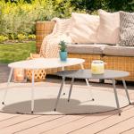 IDMarket  Lot de 2 tables basses gigognes PALMA métal gris et blanc... par LeGuide.com Publicité