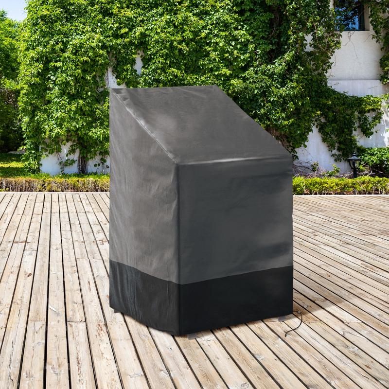 IDMarket Housse de protection pour 4 à 6 chaises empilables 70 x 70 x 120 CM
