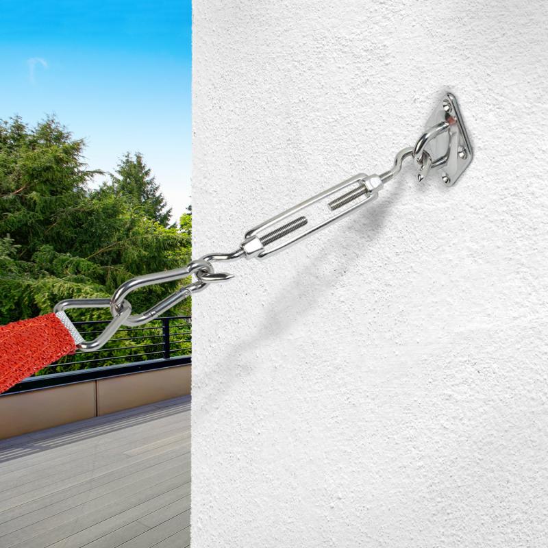 IDMarket Kit pro de fixation murale réglable pour voile d'ombrage + visserie