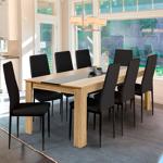 IDMarket  Table à manger Georgia 8 personnes hêtre et noire 160 cm... par LeGuide.com Publicité
