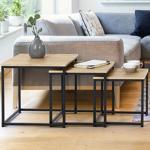 IDMarket  Lot de 3 tables basses gigognes DETROIT 35/40/45 design industriel... par LeGuide.com Publicité