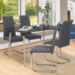 IDMarket  Lot de 4 chaises MIA en tissu gris anthracite pour salle à... par LeGuide.com Publicité