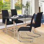 IDMarket  Lot de 4 chaises MIA en tissu noir pour salle à manger   Pour... par LeGuide.com Publicité