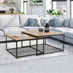 IDMarket  Lot de 2 tables basses gigognes DETROIT 60/70 design industriel... par LeGuide.com Publicité