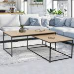 IDMarket  Lot de 2 tables basses gigognes DETROIT 100/113 design industriel... par LeGuide.com Publicité