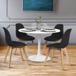 IDMarket  Lot de 4 chaises GABY noires en tissu pour salle à manger... par LeGuide.com Publicité