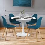 IDMarket  Lot de 4 chaises GABY bleues en tissu pour salle à manger... par LeGuide.com Publicité