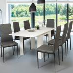 IDMarket  Table à manger extensible DONA 6-8 personnes blanche 80-160... par LeGuide.com Publicité